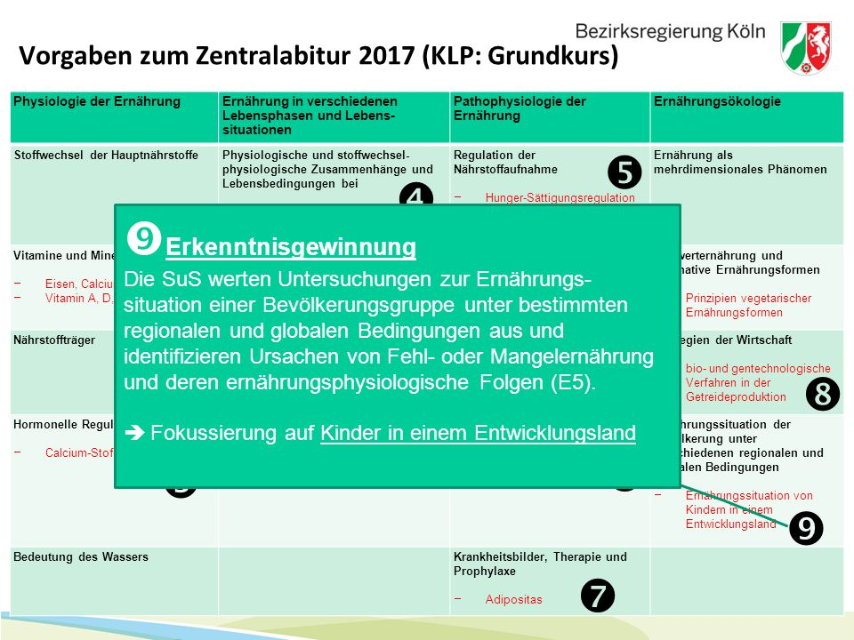 Vorgaben zum Zentralabitur 2017 (KLP: Grundkurs)