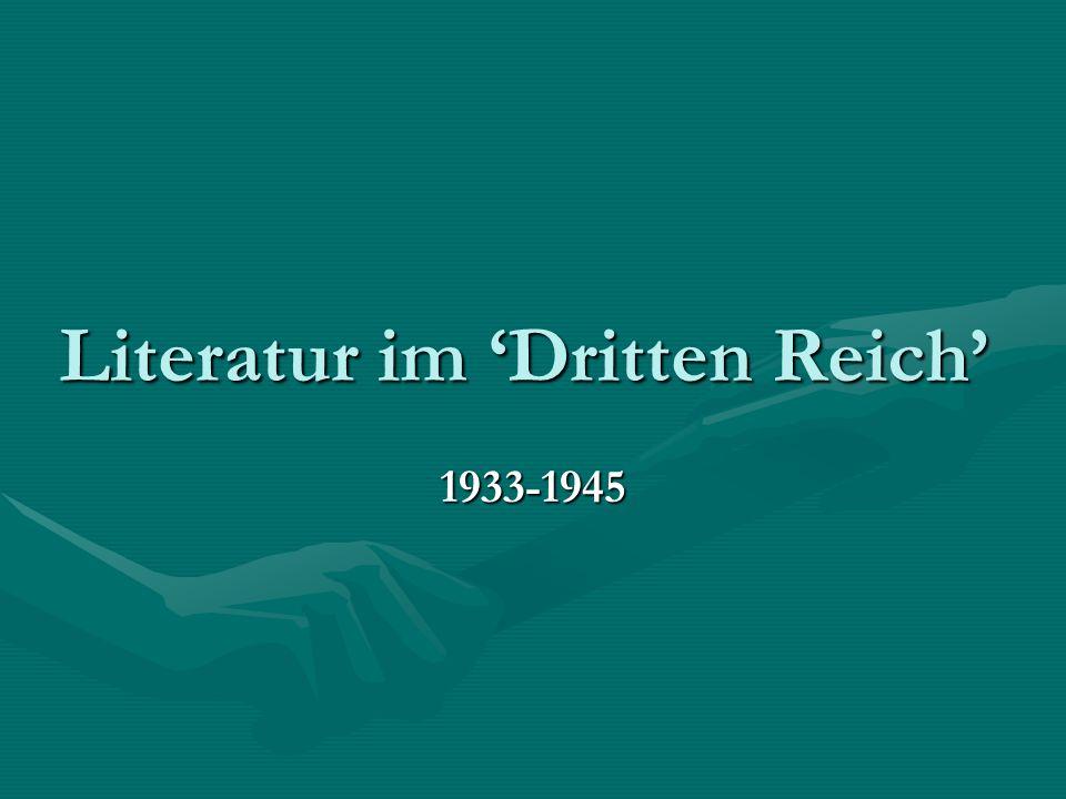 Literatur im 'Dritten Reich'