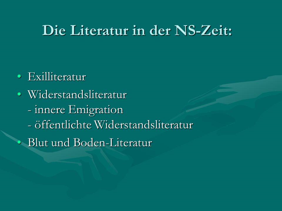 Die Literatur in der NS-Zeit: