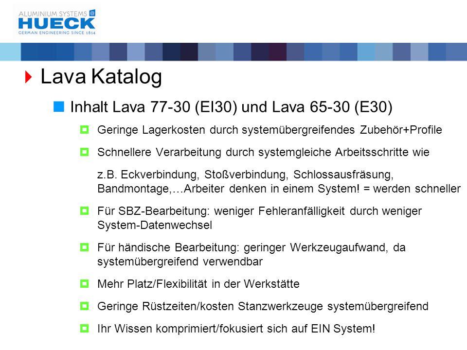 Lava Katalog Inhalt Lava 77-30 (EI30) und Lava 65-30 (E30)