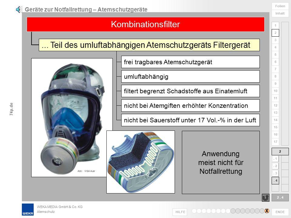 Geräte zur Notfallrettung – Atemschutzgeräte