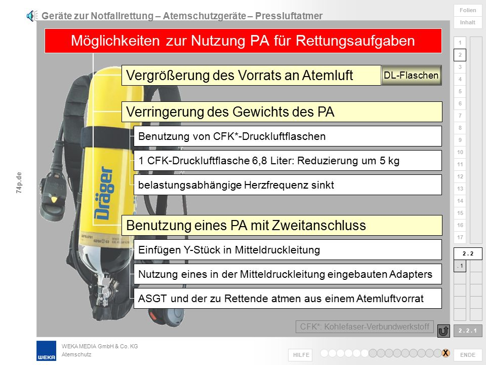 Geräte zur Notfallrettung – Atemschutzgeräte – Pressluftatmer