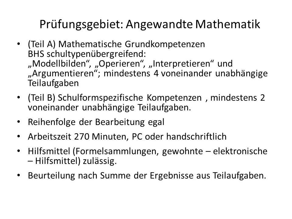Prüfungsgebiet: Angewandte Mathematik