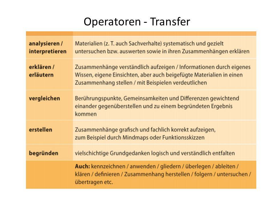 Operatoren - Transfer