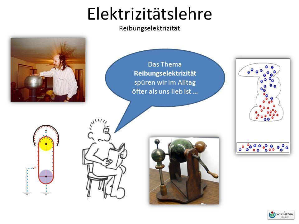 Elektrizitätslehre Reibungselektrizität Das Thema Reibungselektrizität