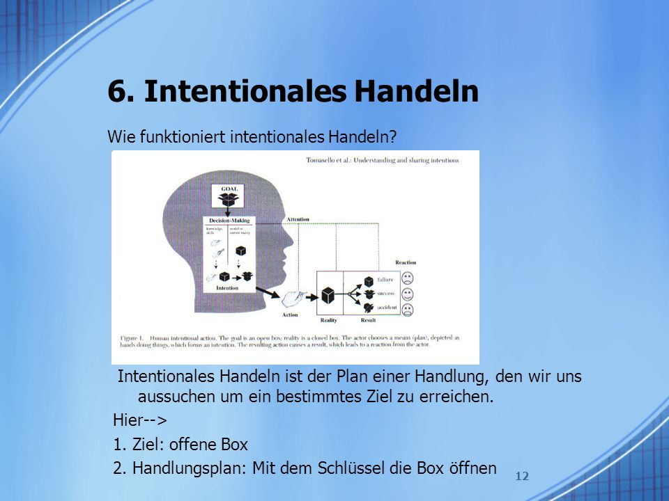 6. Intentionales Handeln