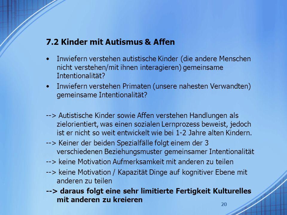 7.2 Kinder mit Autismus & Affen