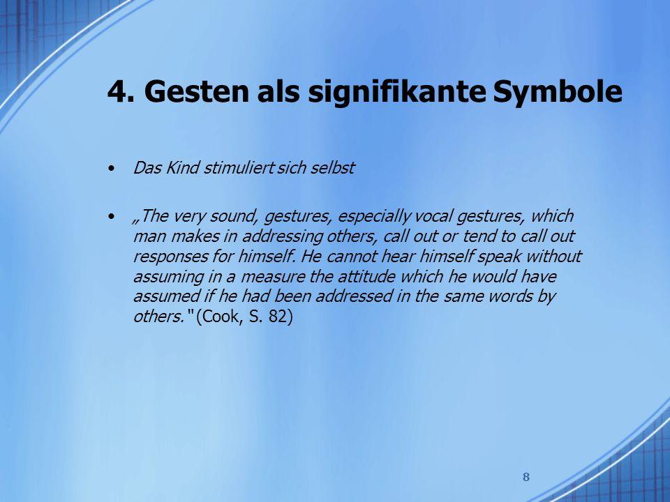 4. Gesten als signifikante Symbole