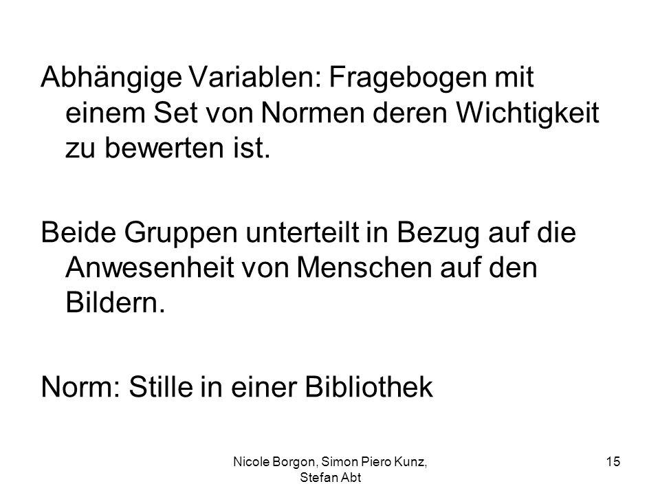 Nicole Borgon, Simon Piero Kunz, Stefan Abt