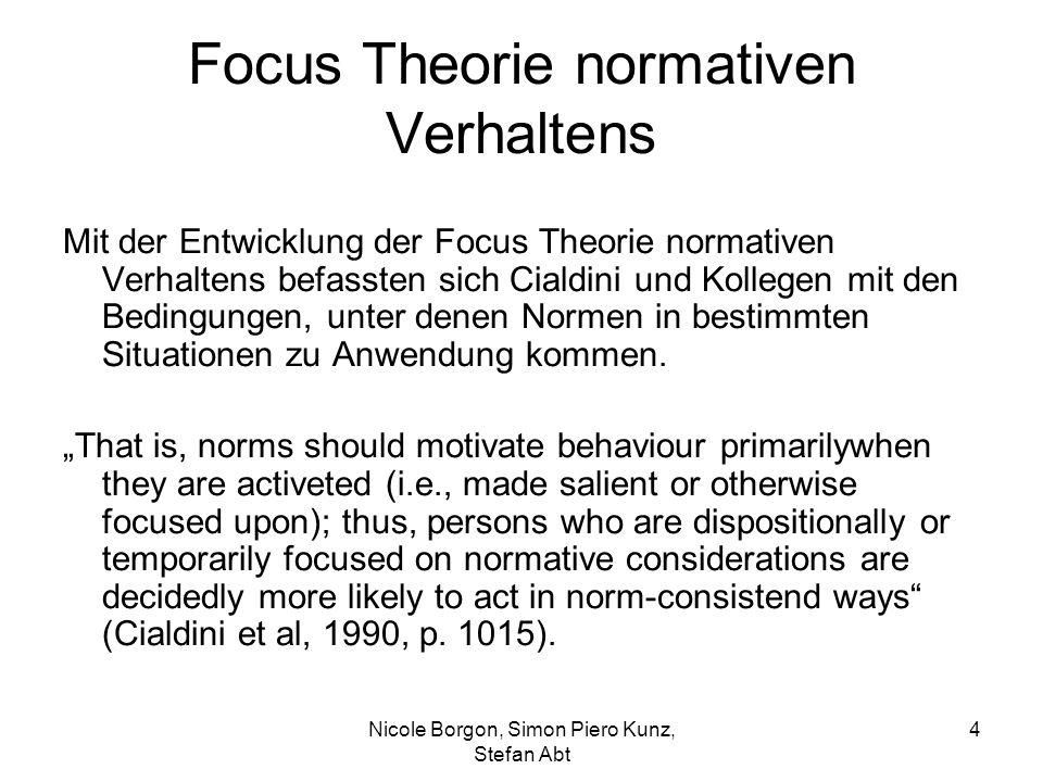 Focus Theorie normativen Verhaltens