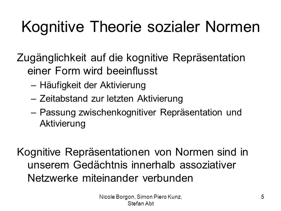 Kognitive Theorie sozialer Normen