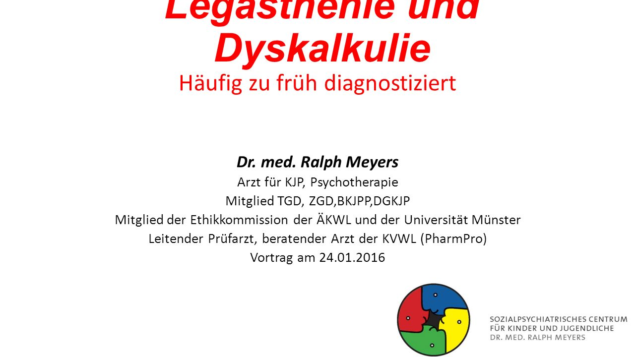 Legasthenie und Dyskalkulie