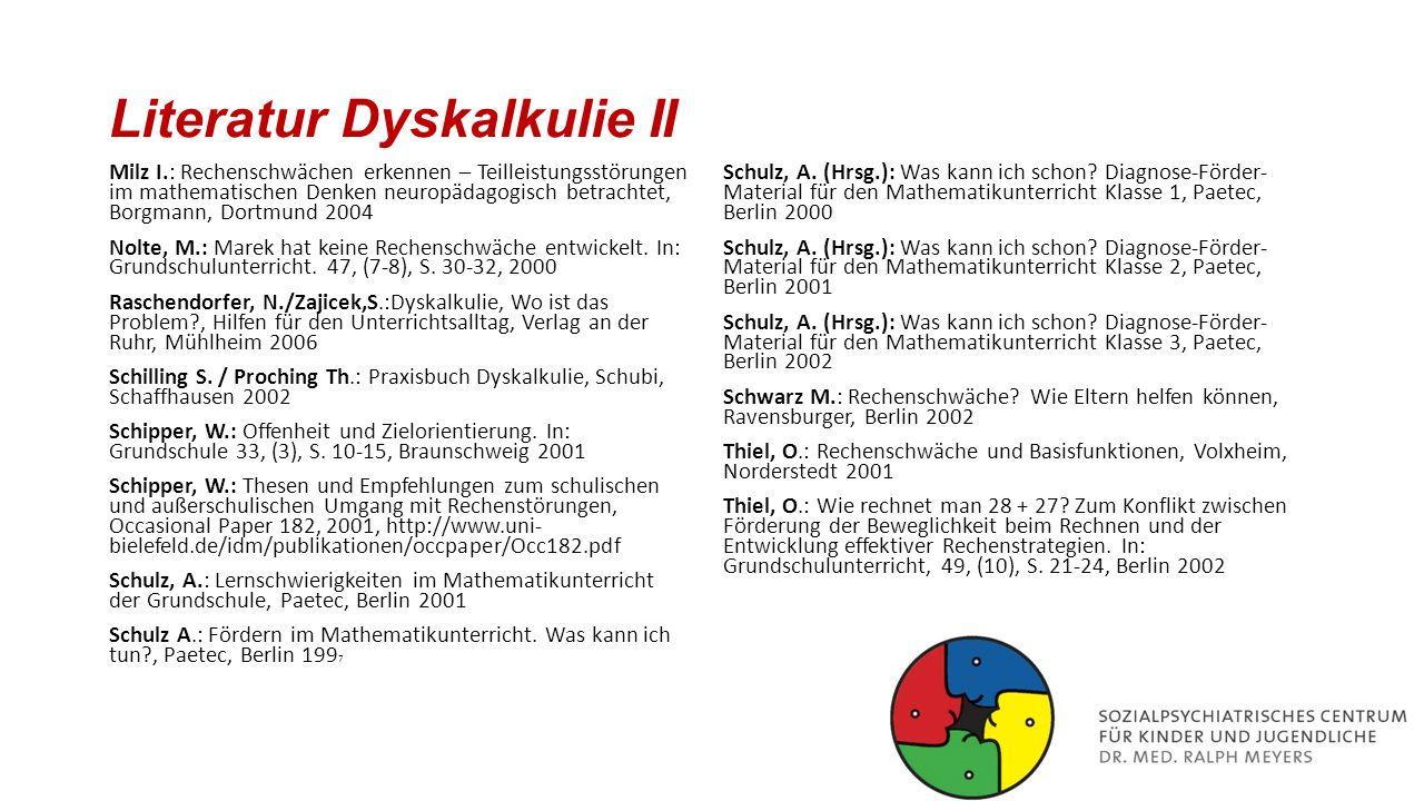 Literatur Dyskalkulie II