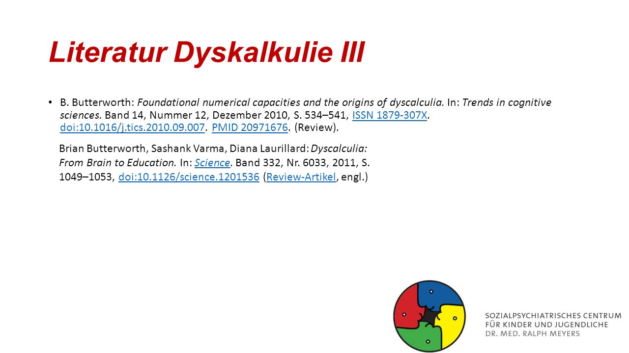 Literatur Dyskalkulie III