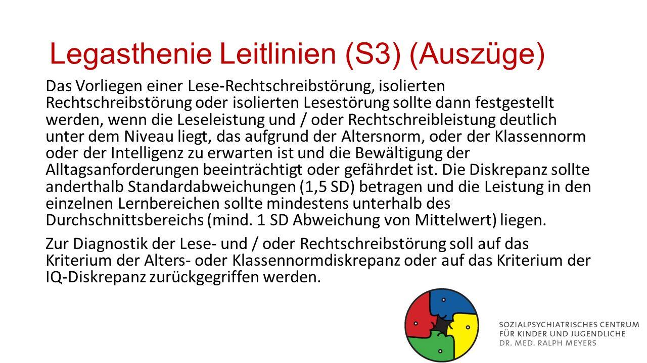 Legasthenie Leitlinien (S3) (Auszüge)