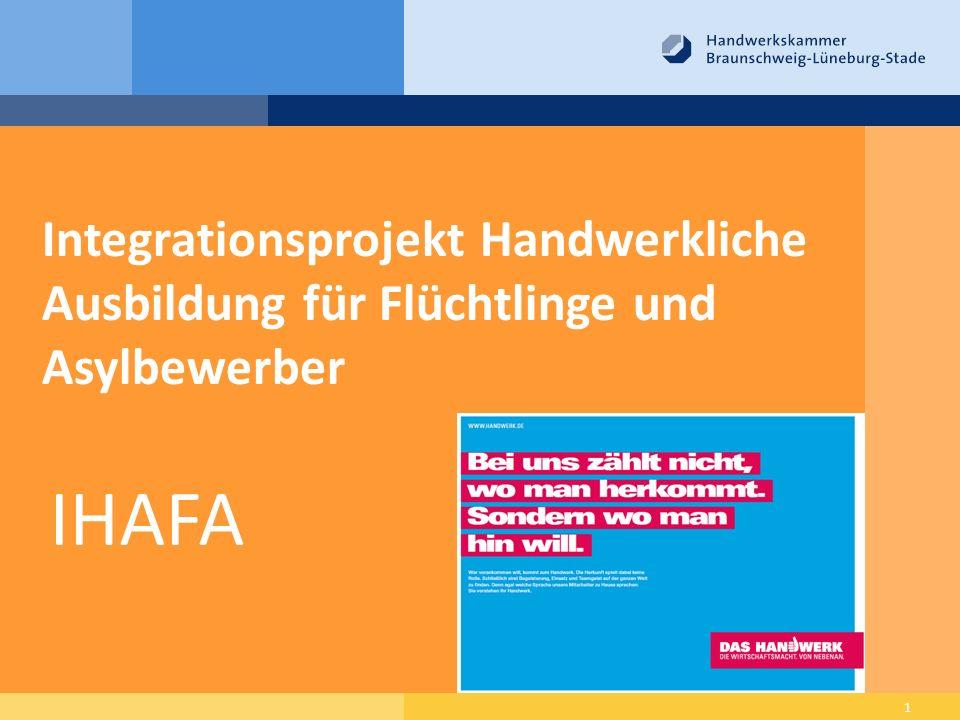 Integrationsprojekt Handwerkliche Ausbildung für Flüchtlinge und Asylbewerber