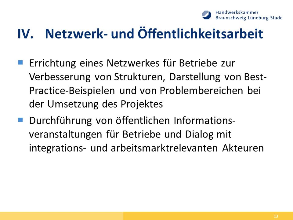 Netzwerk- und Öffentlichkeitsarbeit
