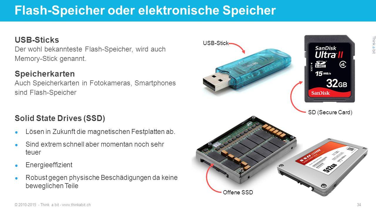Flash-Speicher oder elektronische Speicher