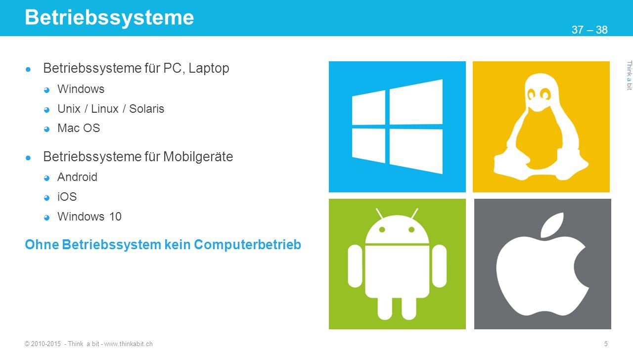 Betriebssysteme Betriebssysteme für PC, Laptop