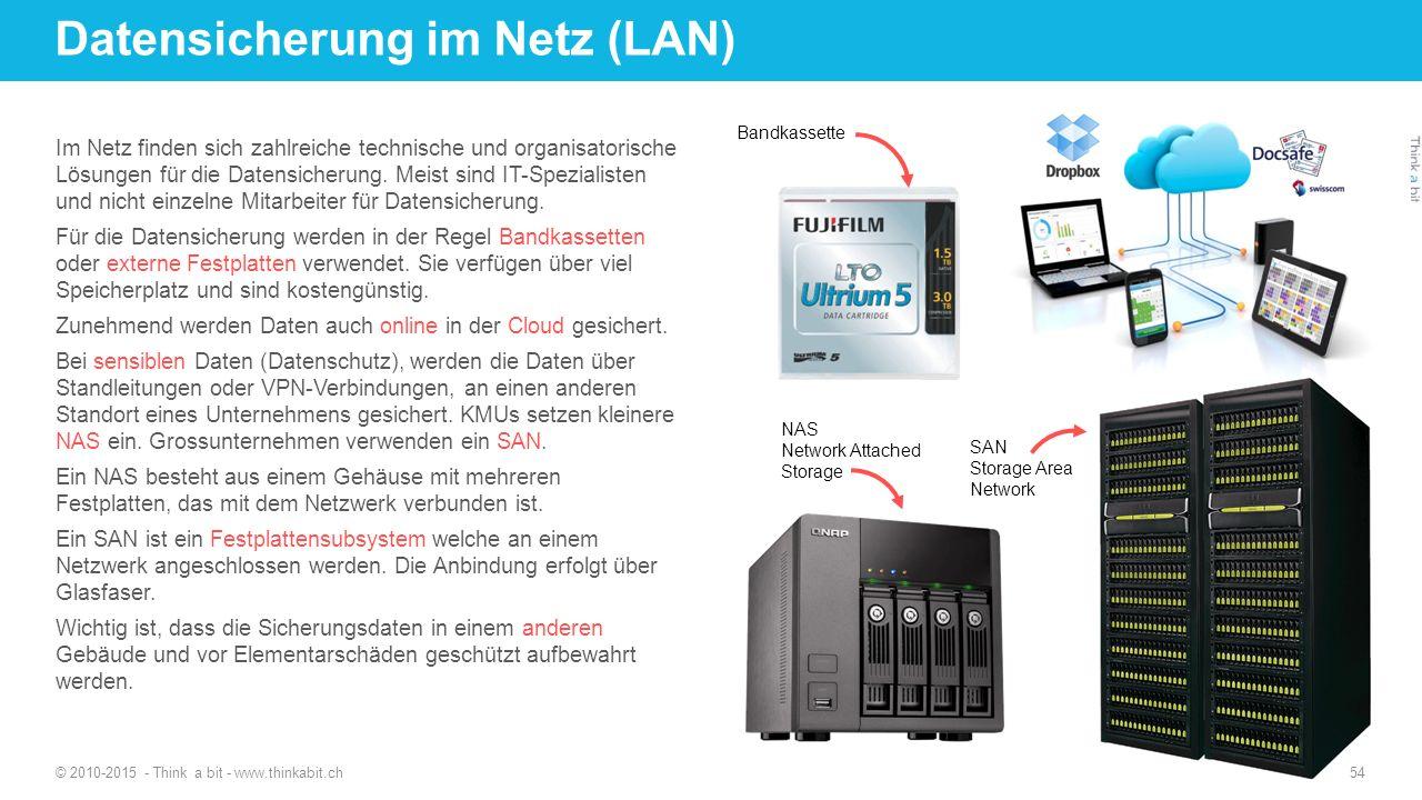 Datensicherung im Netz (LAN)