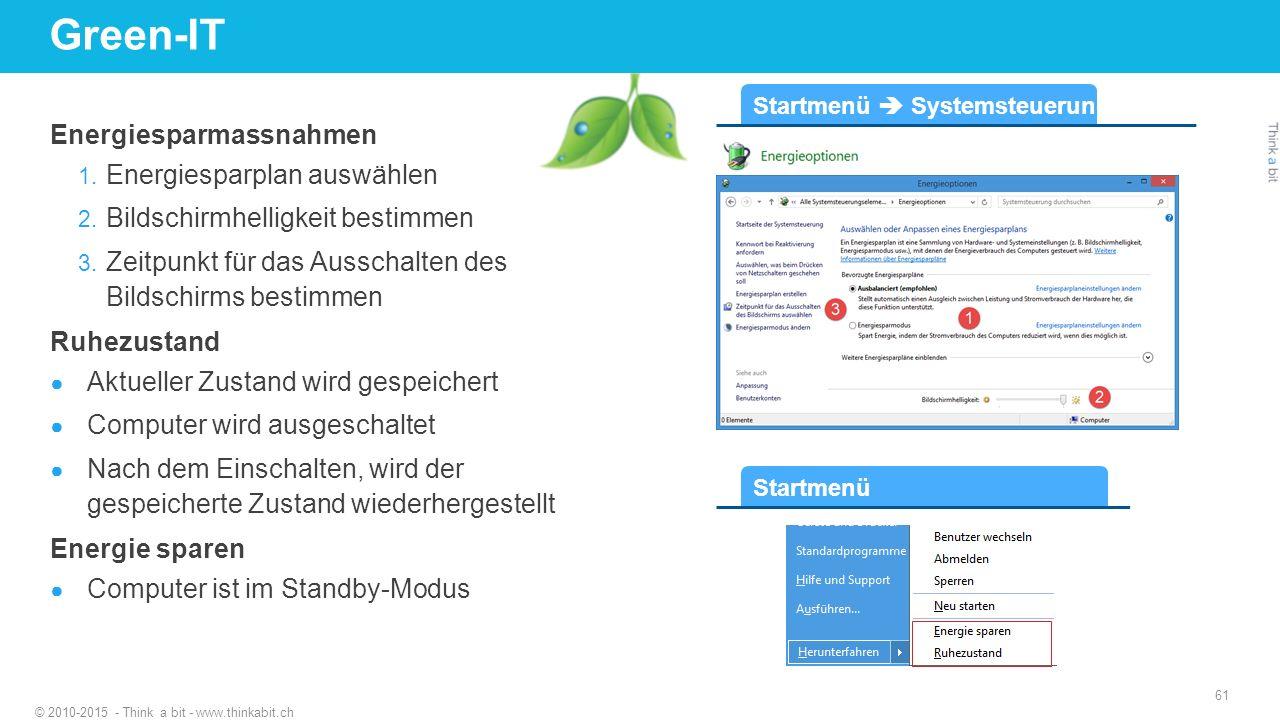 Green-IT Energiesparmassnahmen Energiesparplan auswählen
