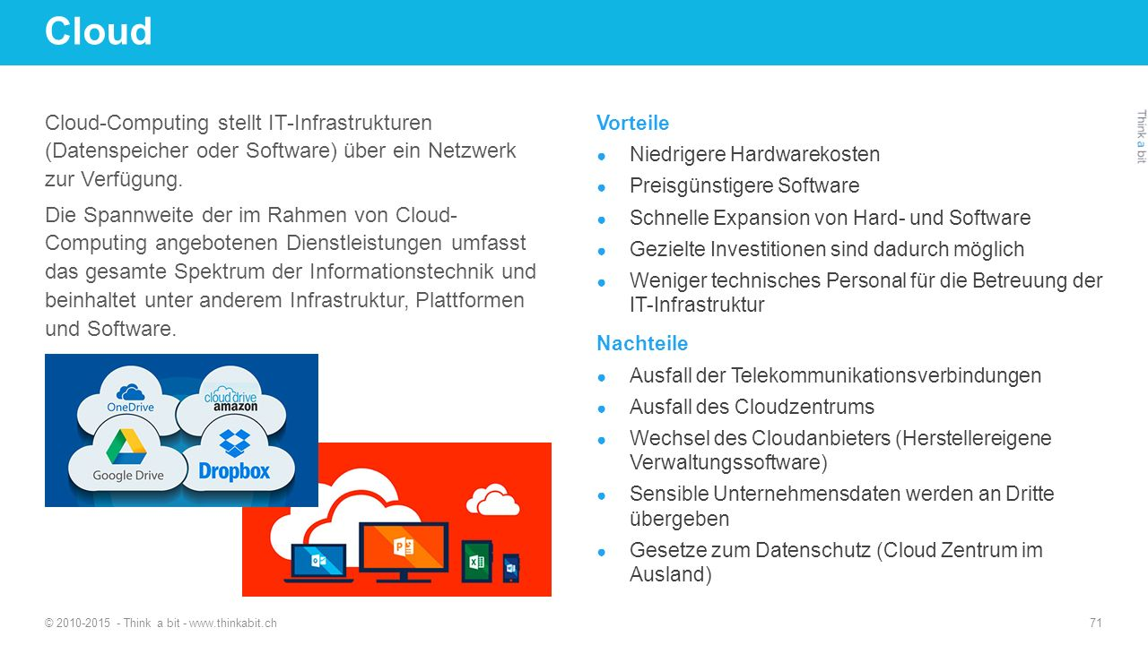 Cloud 27.04.2017. http://thinkabit.ch.