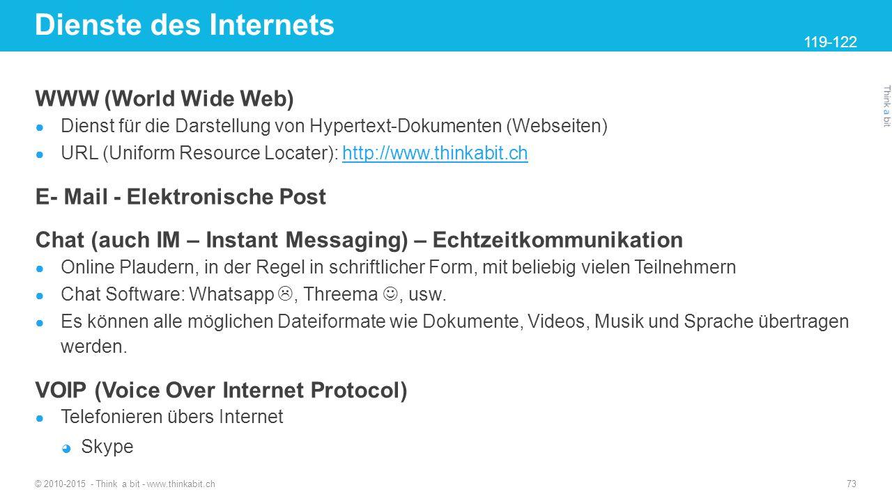 Dienste des Internets WWW (World Wide Web)
