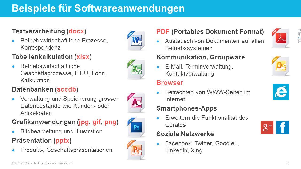 Beispiele für Softwareanwendungen