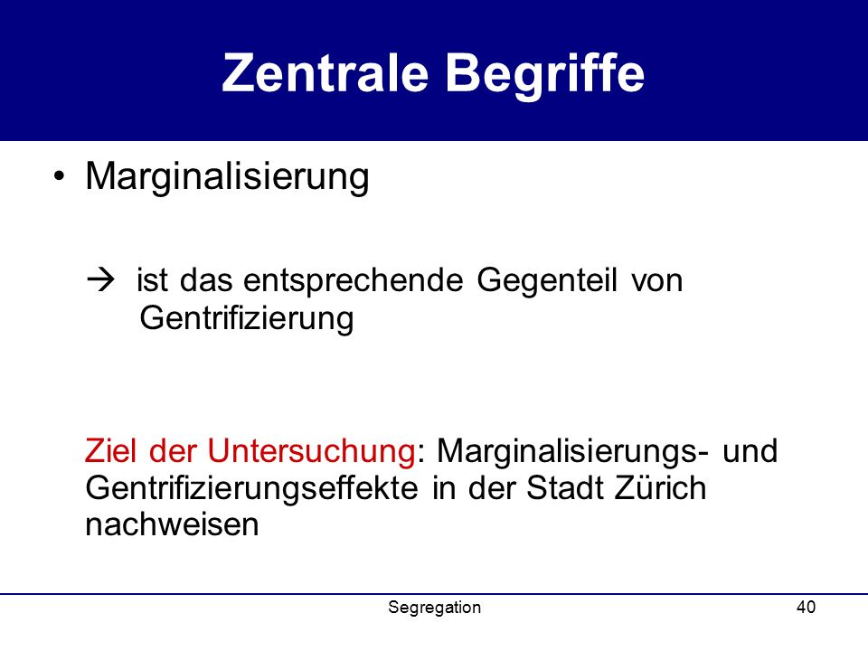 Zentrale Begriffe Marginalisierung