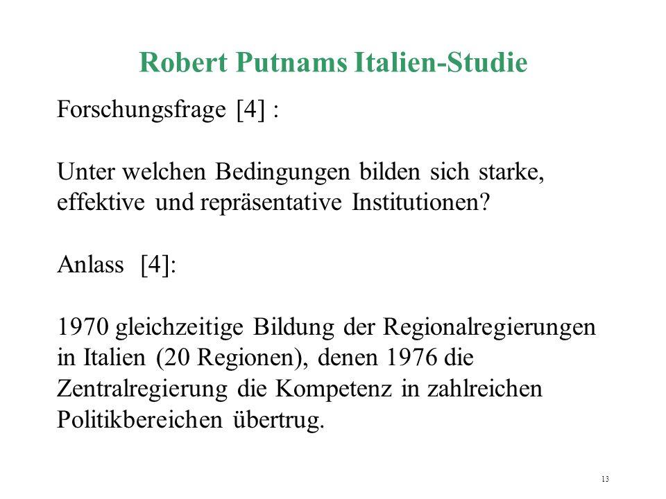 Robert Putnams Italien-Studie