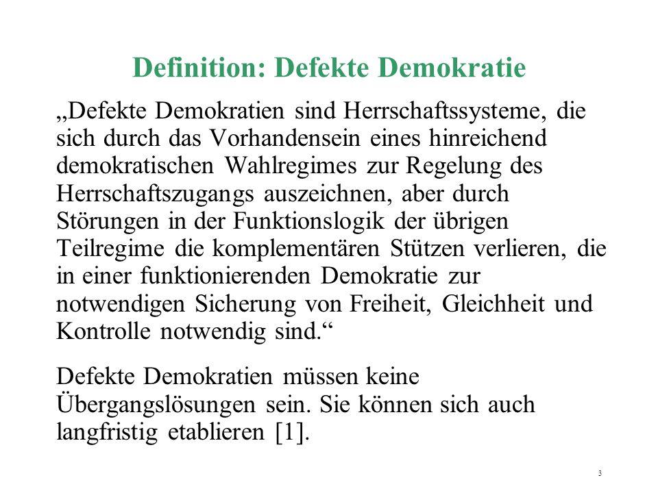 Definition: Defekte Demokratie