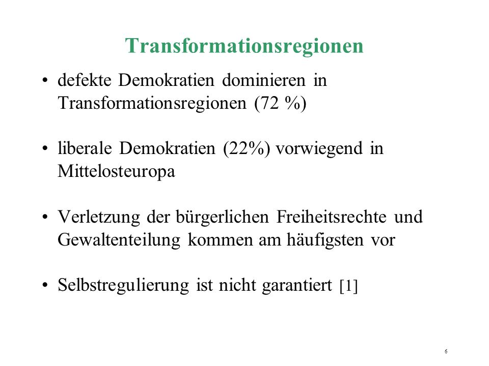 Transformationsregionen