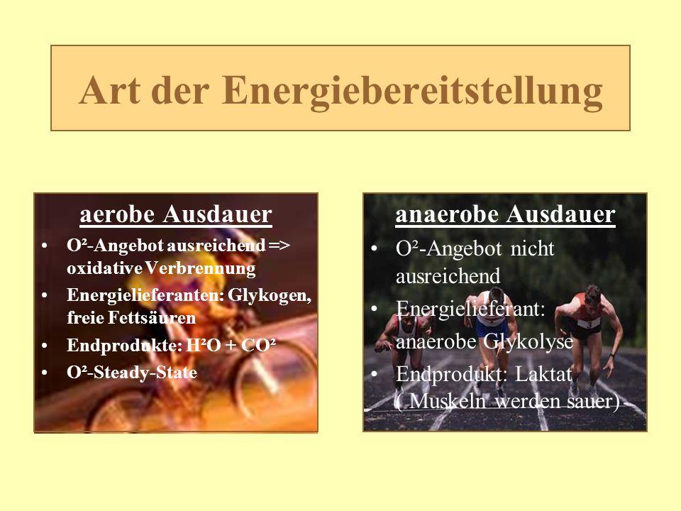 Art der Energiebereitstellung