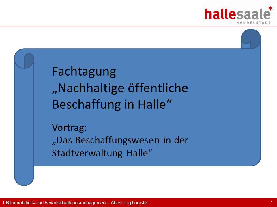 """""""Nachhaltige öffentliche Beschaffung in Halle"""