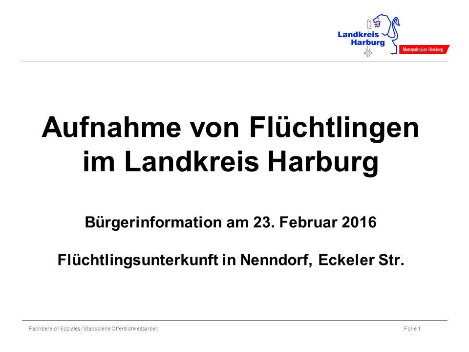 Aufnahme von Flüchtlingen im Landkreis Harburg Bürgerinformation am 23
