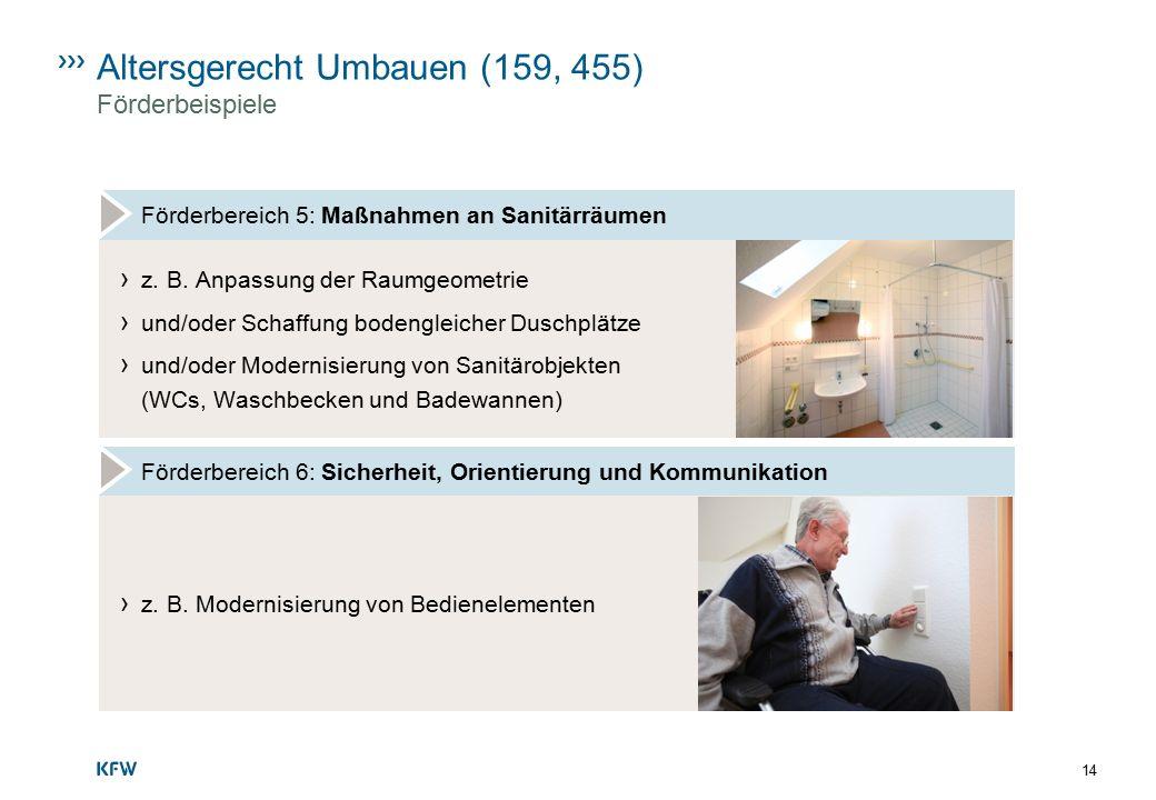 Altersgerecht Umbauen (159, 455) Förderbeispiele