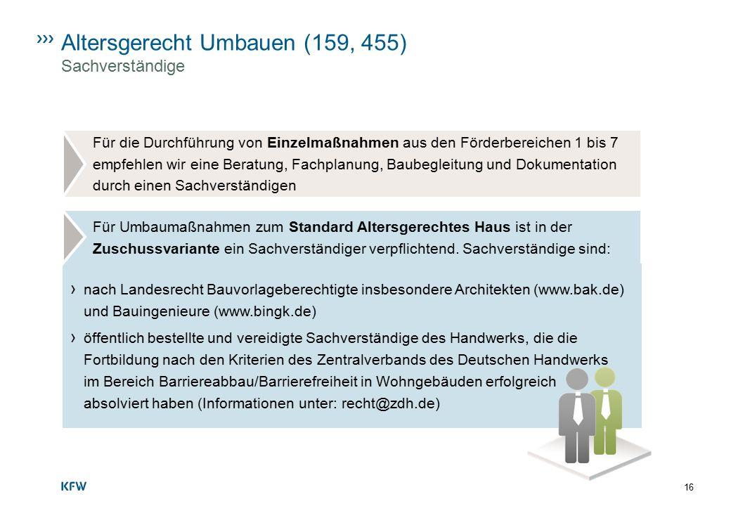 Altersgerecht Umbauen (159, 455) Sachverständige