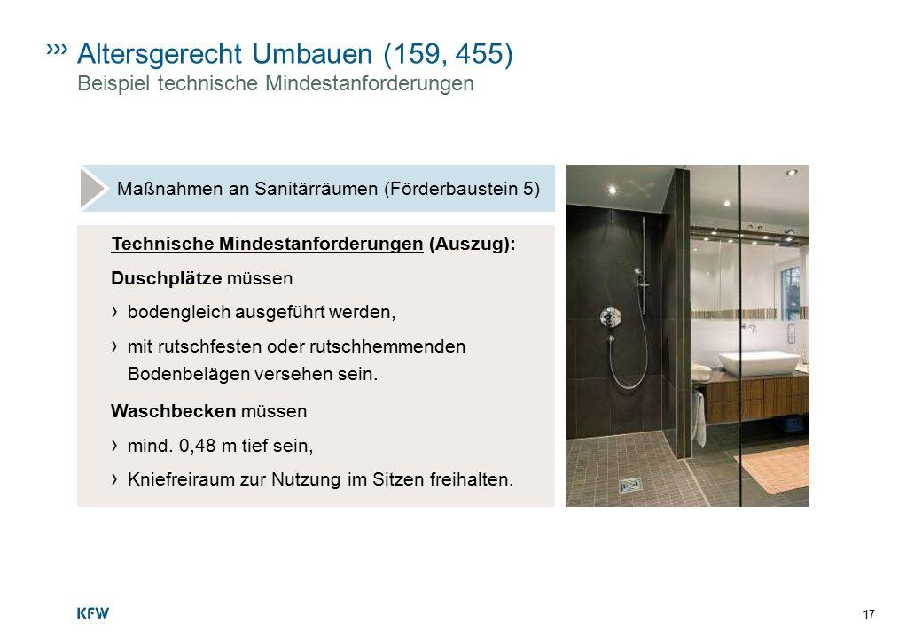 Altersgerecht Umbauen (159, 455) Beispiel technische Mindestanforderungen