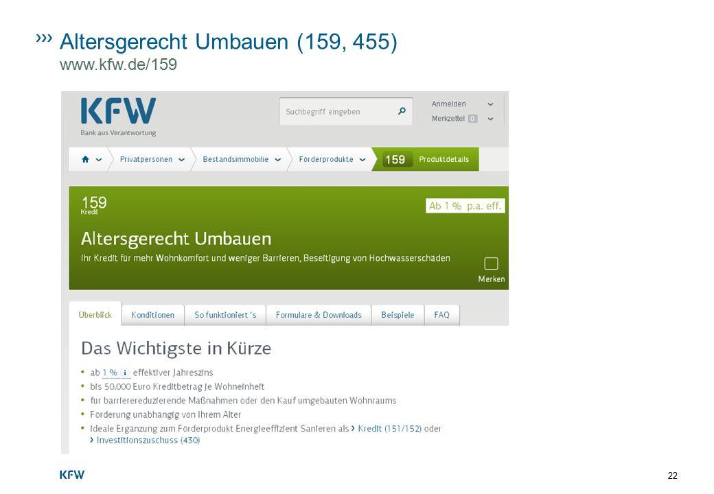 Altersgerecht Umbauen (159, 455) www.kfw.de/159