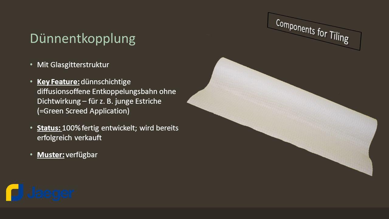 Dünnentkopplung Components for Tiling Mit Glasgitterstruktur