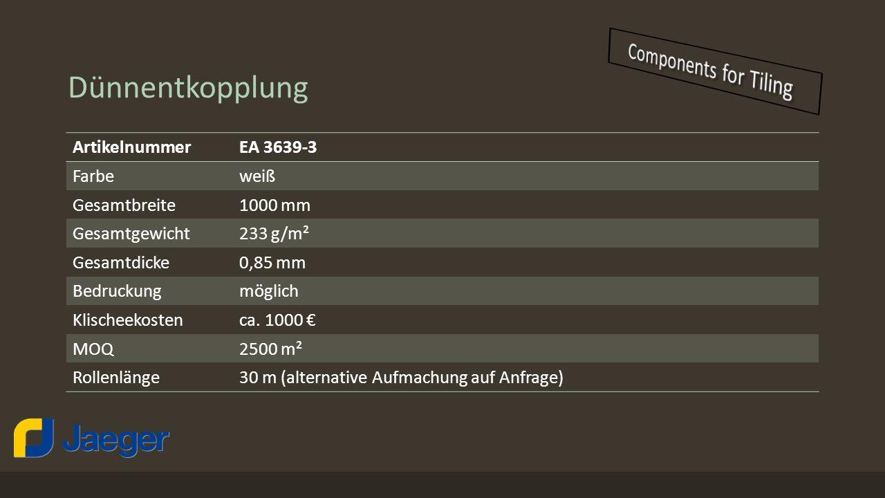 Dünnentkopplung Components for Tiling Artikelnummer EA 3639-3 Farbe