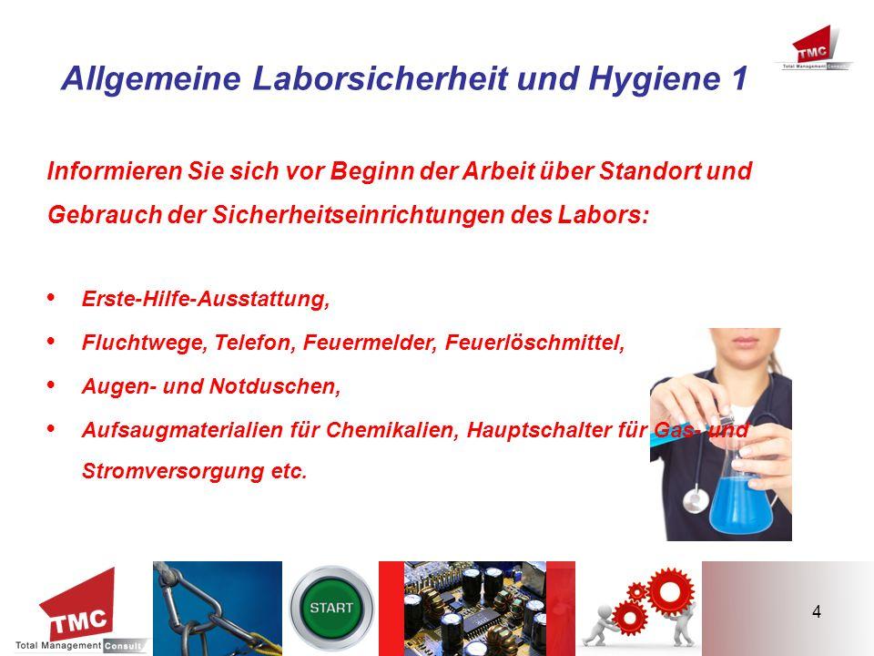 Allgemeine Laborsicherheit und Hygiene 1