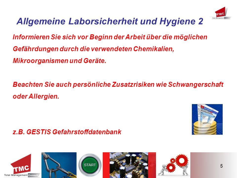 Allgemeine Laborsicherheit und Hygiene 2