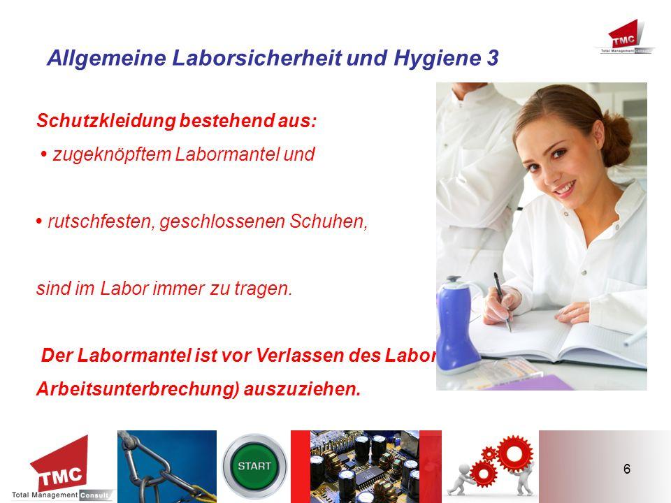 Allgemeine Laborsicherheit und Hygiene 3