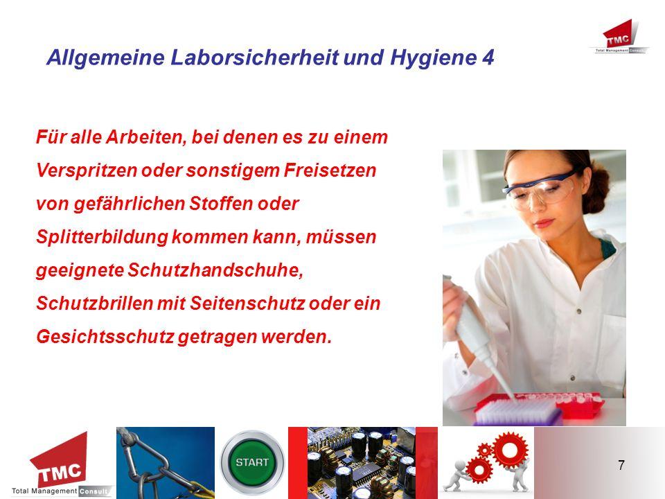 Allgemeine Laborsicherheit und Hygiene 4