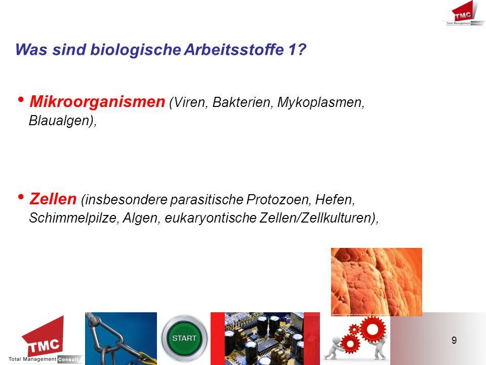 • Mikroorganismen (Viren, Bakterien, Mykoplasmen,