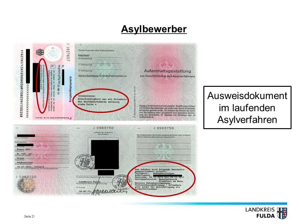 Ausweisdokument im laufenden Asylverfahren