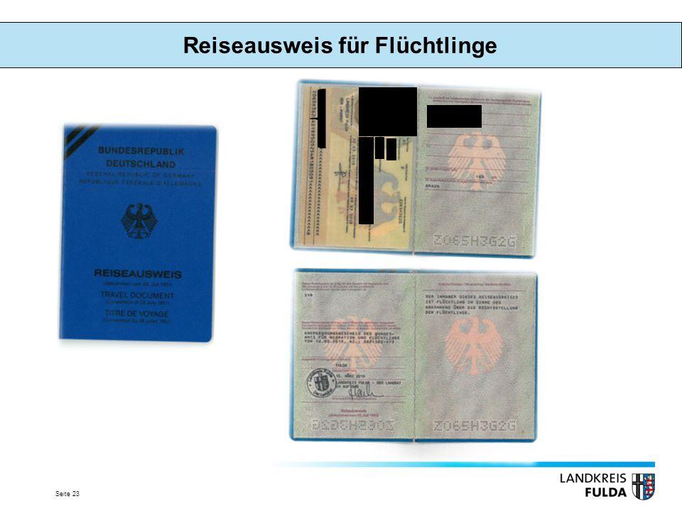 Reiseausweis für Flüchtlinge