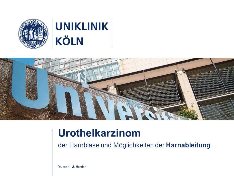 Urothelkarzinom der Harnblase und Möglichkeiten der Harnableitung