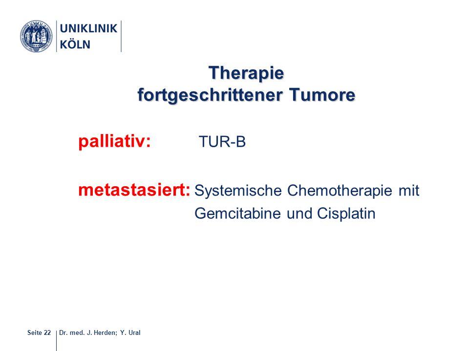 Therapie fortgeschrittener Tumore
